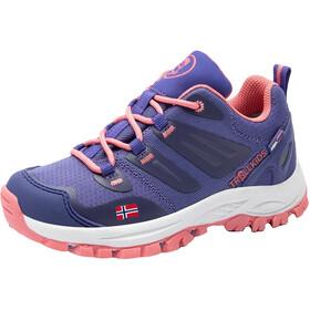 TROLLKIDS Rondane Hiker Low Shoes Kids, violeta/rojo